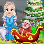 Little Elsa Clean Christmas Carriage