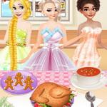 Princesses Cooking Christmas Dinner